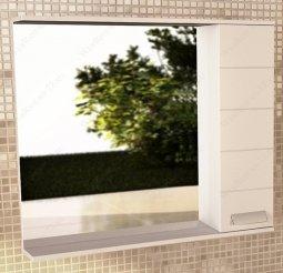 Шкаф-зеркало Comforty Модена 90 Белый