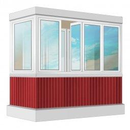 Остекление балкона ПВХ Veka с отделкой ПВХ-панелями с утеплением 2.4 м Г-образное