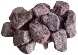 Камень для бани Огненный Камень Кварцит малиновый обвалованный 20 кг