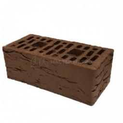 Кирпич лицевой керамический «Шоколад» «Рустик» пустотелый утолщенный