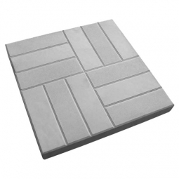 Плитка тротуарная 12 кирпичей 500х500х50 Серая