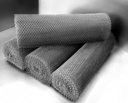 Сетка рабица d=1,6 мм, ячейка 25x25 мм, 1500x1000 мм, оцинкованная