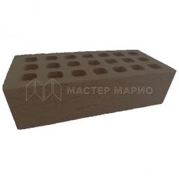 Кирпич лицевой керамический Коричневый «Рельеф» пустотелый одинарный М150