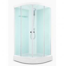 Душевая кабина Domani Spa Delight 110 1000x1000x2180 сатин матированное стекло, белая панель Б/Э