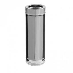 Дымоход нержавеющий/зеркальный Ferrum 439/0.8мм ф115/200 L=0.5м утепленный по воде