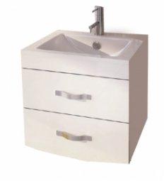 Тумба под умывальник Comforty Лаура 60-2  подвесная белый с раковиной Comforty 60Е
