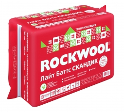 Базальтовый утеплитель Rockwool Лайт Баттс Скандик 800х600х50 мм / 12 пл.