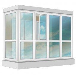 Остекление балкона ПВХ Veka в пол с отделкой ПВХ-панелями без утепления 3.2 м Г-образное